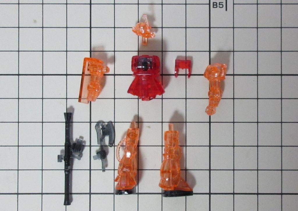 カップヌードルminiガンプラ 1/380-2nd シャア専用ザクⅡの写真